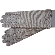 Vintage Gloves Crocheted Lace Never Worn Bone or Natural Color