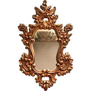 Vintage Syroco Gold Rococco Ornate Mirror 1966 Hollywood Regency