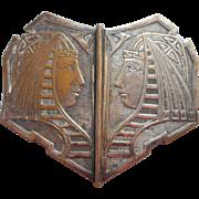 1920s King Tut Belt Dress Buckle Vintage Metal Clasp