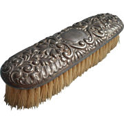 Antique Clothes Brush Use For Table Ornate Worn Silver Plated Vanity