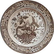 1880 Wedgwood Beatrice Brown Transferware China Antique Plate