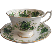 Royal Albert Ivy Lea Cup Saucer Vintage English Bone China