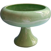 Huge Vintage Haeger Pedestal Planter Green Vintage Midcentury Dish Garden Succulents