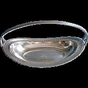 Monogram R 1920s Silver Bread Basket Vintage Shabby Elegant
