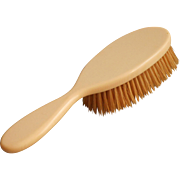 1920s Celluloid Hair Brush Hairbrush Faux Ivory Vintage Natural Bristles