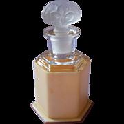 1920s Perfume Bottle Satin Glass Stopper Celluloid Case
