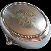 Monogram R L Antique Soap Box Silver Plated