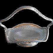 Vintage Bonbon Basket Silver Plated Pierced For Tea Or Luncheon Table