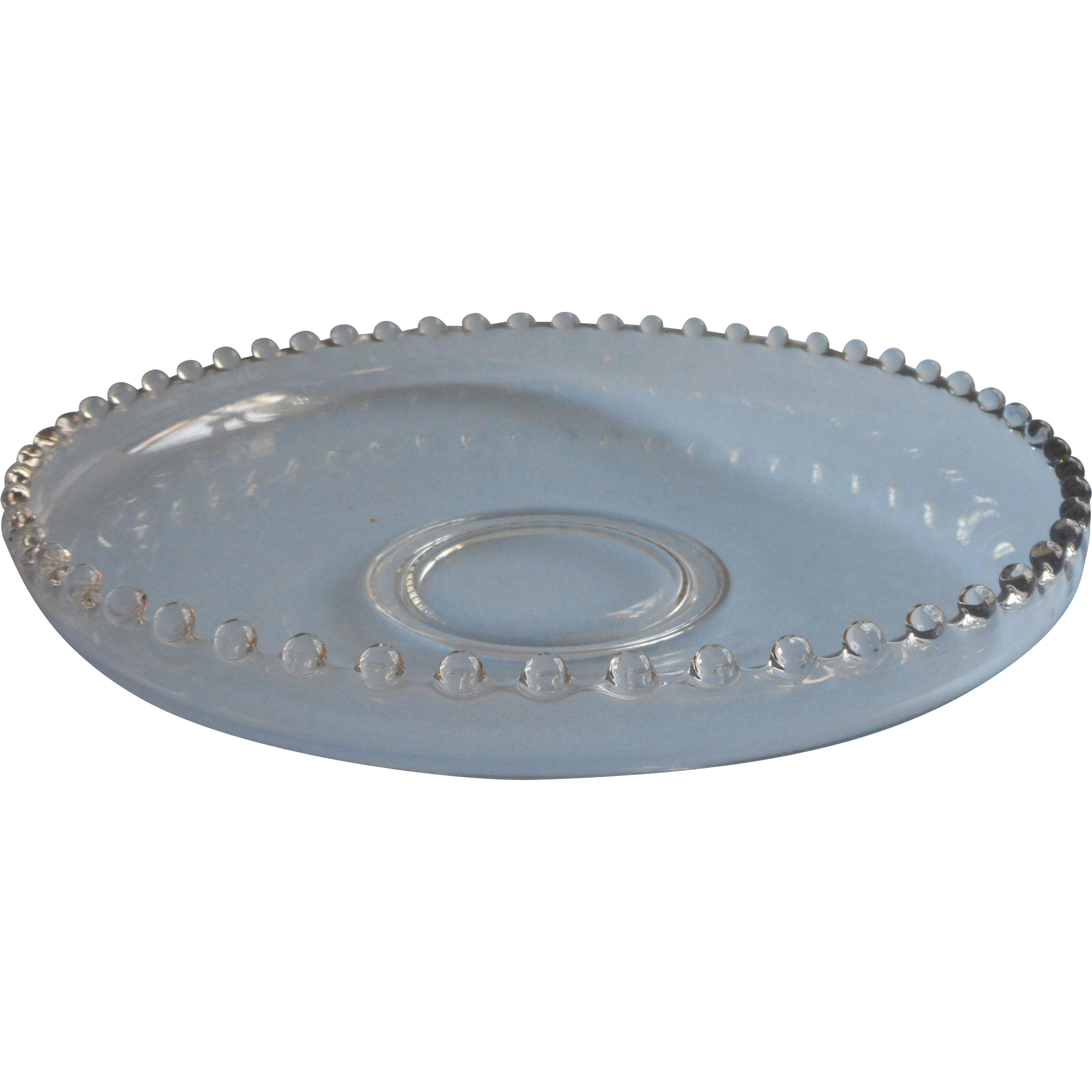 Candlewick shallow console bowl centerpiece serving