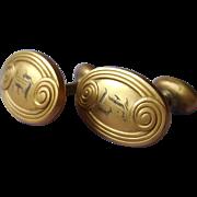 Monogram H Antique Cufflinks