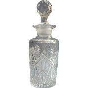 Antique Pressed Glass Cologne Bottle EAPG