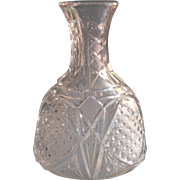 Antique Carafe Water Bottle EAPG Pressed Glass For Your Whiskey And Water Classic