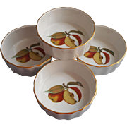 Vintage Royal Worcester Evesham 4 Inch Baking Ramekins Dishes Unused - Red Tag Sale Item