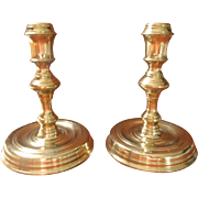 Vintage Colonial Williamsburg CW 16 20 Brass Candlesticks Pair