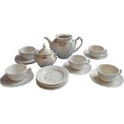 Victorian Child Doll Tea Set China Partial White