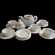 Victorian Child Doll Tea Set China Partial White