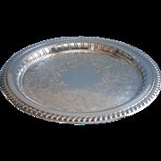 Pierced Rim Tray Silver Plated Vintage Wm. A. Togers Oneida