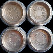 Vintage Aluminum Coasters Unusual Deep May Be Furniture Castor Coasters