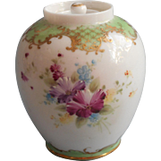 Nippon Rose Petal Jar ca 1890 Antique China Hand Painted Dow Sie Cot Ure