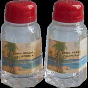 Vintage Long Beach California Souvenir Shakers Salt Pepper