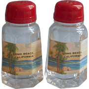 Vintage Long Beach California Souvenir Shakers Salt Pepper