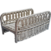 Vintage Wicker Rattan Guest Towel Rack Stand Powder Room 1960s 70s
