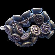 26 Victorian Buttons Diminutive Picture Set Antique Metal Sprigs