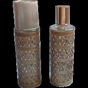 Vintage Revlon Intimate 2 Empty Bottles Filigree Covers