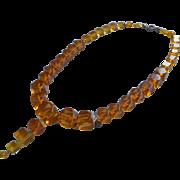 Vintage Bakelite Beads Apple Juice Crystal Glass Mix From Broken Necklace