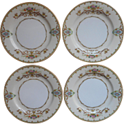 Noritake Arabella 4 Bread Plates Vintage 1930s China