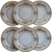 Noritake Arabella 6 Bread Plates Vintage 1930s China