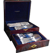 Old Colony 1911 Antique Silver Plated Luncheon Set Flatware Original Box Service For 6
