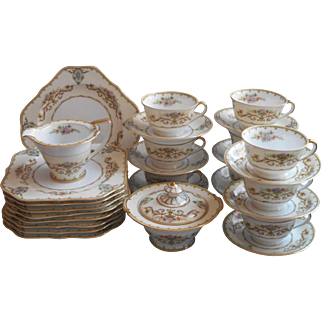 Noritake Arabella Dessert Service Vintage 1930s China Cups Saucers Plates Etc