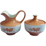 1950s Azure Pine Taylorcraft Taylor Smith Taylor Creamer Sugar Bowl Vintage China