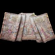 Vintage Tapestry Nice Colors Italian Noblemen Women Dogs Boats Gondolas