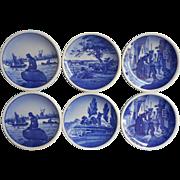 Royal Copenhagen Aluminia Denmark Mini Plates Vintage Use As Butter Pats