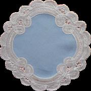 Vintage Doily Linen Belgian Tape Lace Battenberg Type