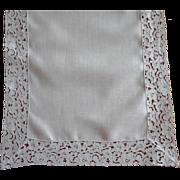 Vintage Runner Lace Linen