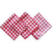 Vintage Red Checked Tablecloth Tablecloths Fabric Remnant TLC Cotton