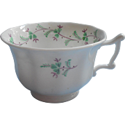 Sprig Ware Cup Antique 1830s to 1850s Sprigware China Green Mulberry Hand painted