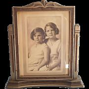 1930 Frame Easel Swing Tilt Style Art Deco Photograph Vintage