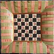 Vintage Mackenzie Childs Torquay Square Plate Palm Devon Clay 9 Plus Inch