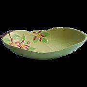 Carlton Ware Apple Blossom Green Vintage Oblong Bowl TLC