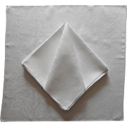Set 12 Antique Large Linen Damask Napkins Very Good Quality 26 Inch