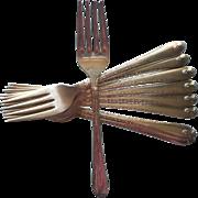 Exquisite 1940 Salad Dessert Forks Vintage Silver Plated