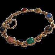 Vintage Scarab Bracelet Carla Gold Filled Petite Scarabs