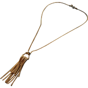 Vintage Hobe Necklace Snake Chain Tassel Simple
