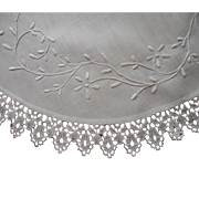 Antique Centerpiece Doily Whitework Hand Embroidery Lace