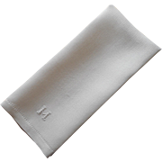 Monogram M Antique Linen Towel Simple