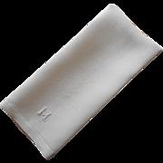 Monogram M Antique Linen Towel Simple